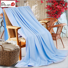 New design 100% Bamboo Fiber blanket Towel Quilt Air Conditioning Summer Blanket Home Hotel Soft breathable Blanket 150x200CM(China (Mainland))