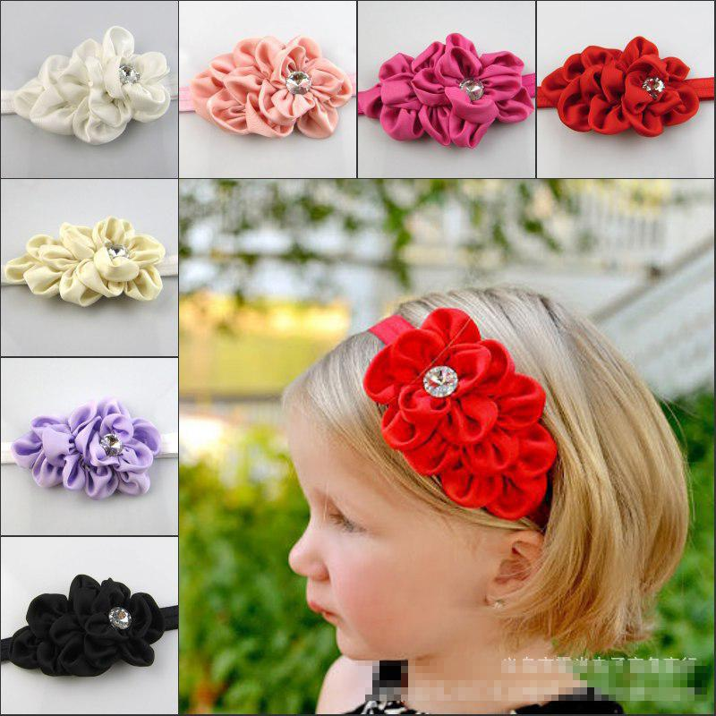 2014 Baby Girls Kids Adorable Hair Bands girl Flowers Infant Children Hair Accessories Pretty Headbands Multicolor(China (Mainland))