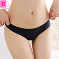 Women Ice Silk Invisible Underwear Summer Female T Panties Seamless Crotch Female T Thongs Panties Women