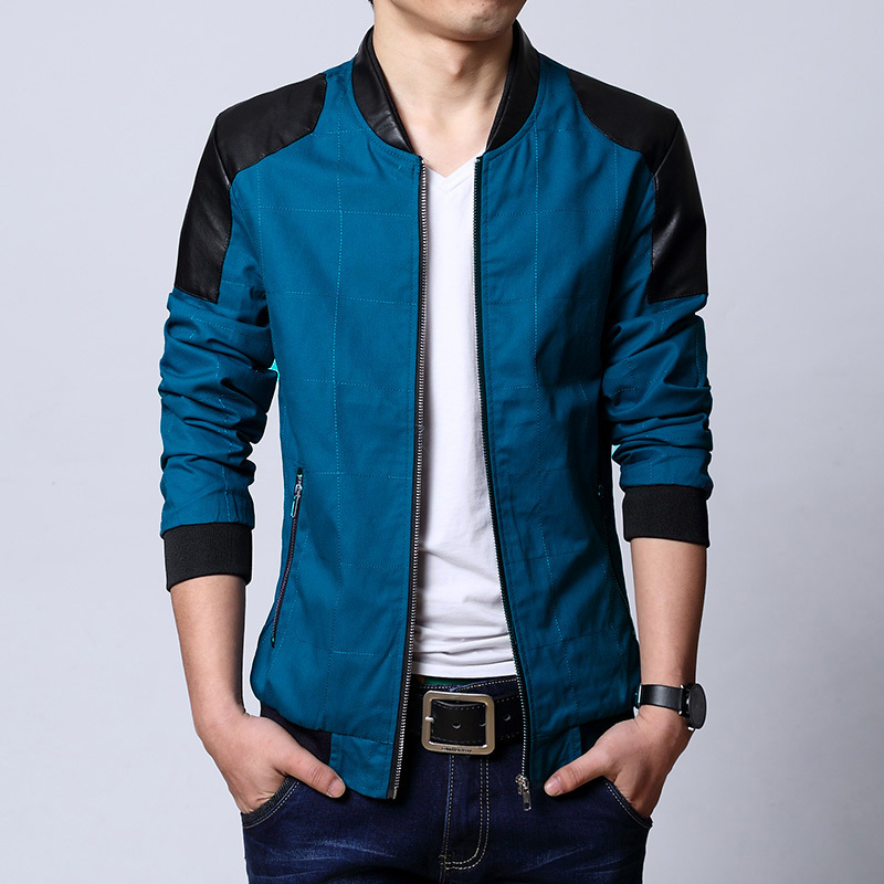 Hot Selling Spring Autunm Casual Jacket For Men 2015 Fashion Man Jackets Men's Outerwear Sportswear Clothing Big Size 3XL 4XL(China (Mainland))