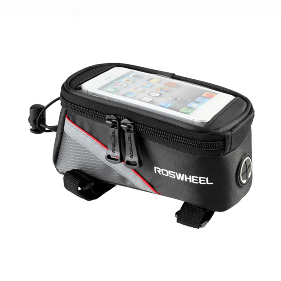 """ROSWHEEL 4.8"""" 5.7""""Cycling Bike Bicycle bags panniers Frame Front Tube Bag For Cell Phone MTB Bike Touch Screen Bag(China (Mainland))"""