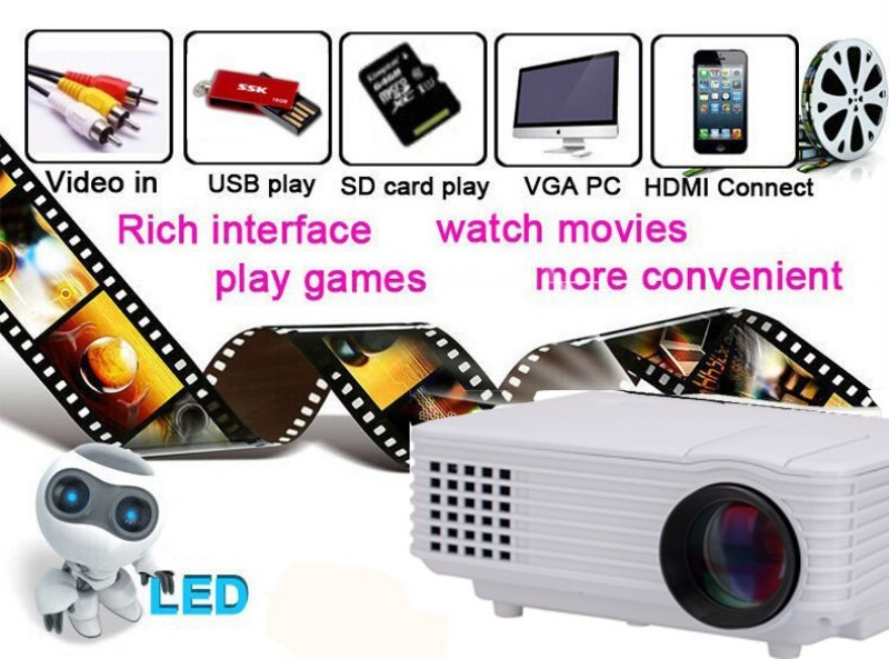 2015 new 2000lumens HD led projector and tv mini projector led projector 3d smart projector