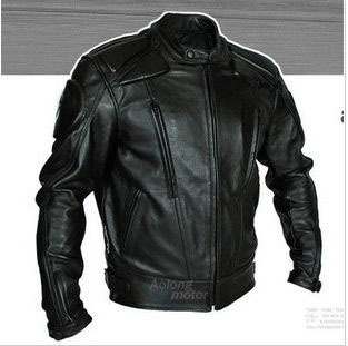 Мужская мотокуртка  leather motorcycle Jacket мужская мотокуртка pad