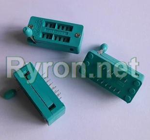 50PCS IC Test Universal ZIF Socket 14pin 14 pin dip 2.54mm IC Socket pitch(China (Mainland))