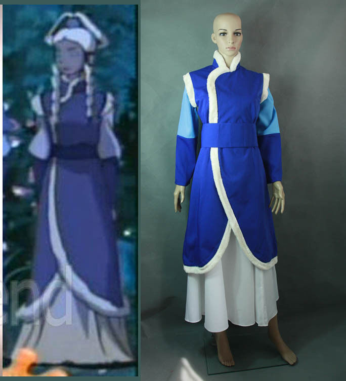 Avatar The Last Airbander Princess Yue cosplay costume customized(China (Mainland))