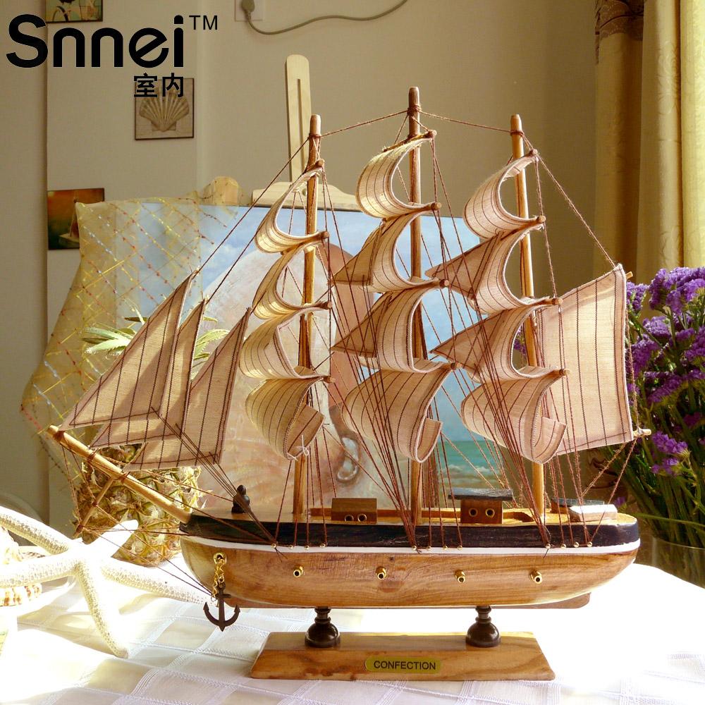 Online kopen wholesale houten schip model uit china houten for Decoratie zeilboot