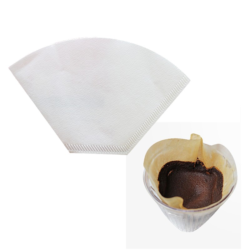40Pcs Coffee Filter Paper Fit with Filter Paper Drip Cup Coffe Maker 2-4 Person Kitchen Cooking Tools 102 Coffee Hand-poured(China (Mainland))