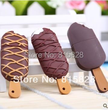 100% real flash drive Cartoon ice cream 8g usb flash drive cute Popsicle pen drive creative gift 8GB USB 2.0 memory stick flash(China (Mainland))