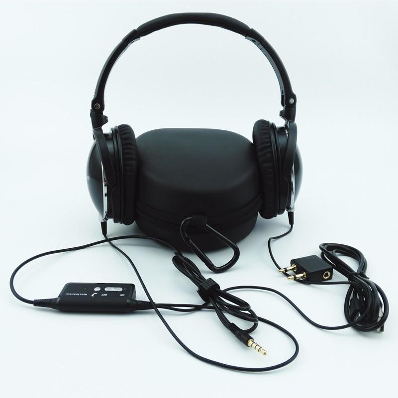 ถูก ใหม่ล่าสุดที่ใช้งานเสียงยกเลิกหูฟังพร้อมไมโครโฟนพับกว่าหูไฮไฟเสียงแยกชุดหูฟังNetskyหูฟังAuriculares
