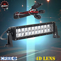 4D LENS 12 INCH 72W CREE LED Driving Work Light Bar Spot Flood for 4x4 Offroad