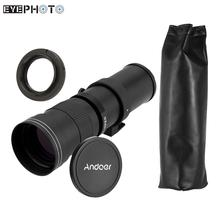Buy Andoer 420-800mm F/8.3-16 HD Super Telephoto Camera Lens Manual Zoom Lens T-Mount T/T2 Adapter Ring Canon Lens EOS DSLR for $139.03 in AliExpress store