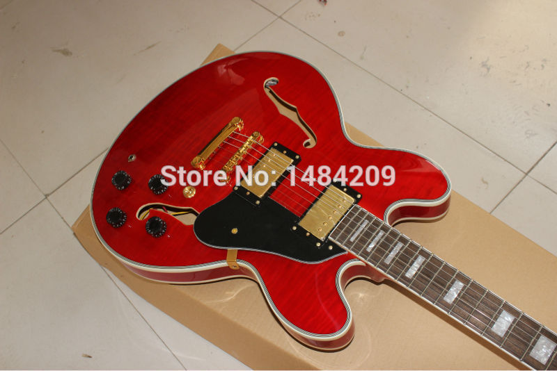 Wholesale - - best china guitar Custom Shop ES 335 RED Top Electric Guitar Cherry OEM(China (Mainland))