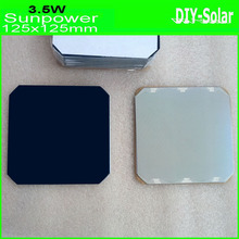 24% 125mm Sunpower Solar Cell 5×5,  max 3.55W high-efficiency 125mm Monocrystalline solar cells 10pcs/lot