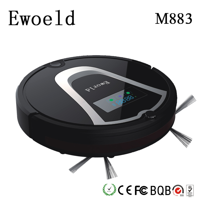 Eworld Mop Robot Vacuum Cleaner For Home HEPA Filter Dust Bucket Sensor Remote Control Self Charge ROBOT ASPIRADOR Clean Floor(China (Mainland))