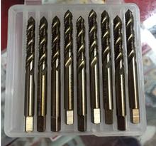 Hss M35 Co5 % CNC hecho 15 unids conjunto máquina flauta espiral grifos Screw Tap HSS M3 / M4 / M5 / M6 / M8 / M10 M12 M14 / M16 / M18 / M20 / M24 / M27 / M30mm