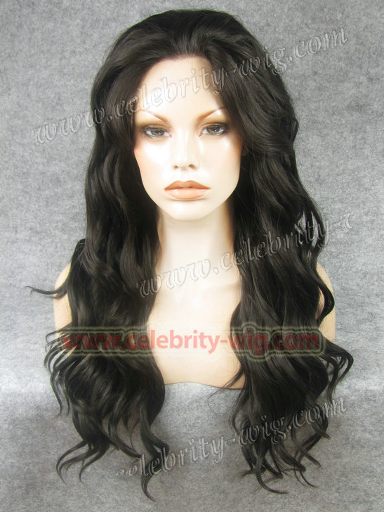 N6-4# Stock Black Synthetic Lace Front Wig<br><br>Aliexpress