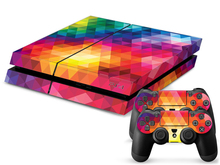 Rainbow Color PS4 Sticker PS4 Skin PS4 Stickers + 2Pcs Controller Skin Console Stickers PS4 Protective Skin