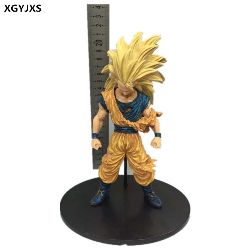 21 cm dragonball PVC gift collection place super Saiyan wukong action toys six generation of dragon Isaiah statue X11(China (Mainland))