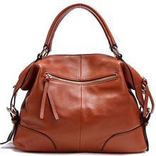 Large capacity design genuine leather women business messenger bags fashion shopping shoulder bags for woman handbags