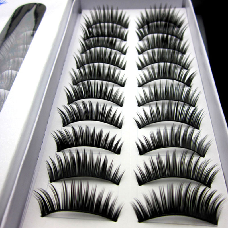 New 40pairs/Lot Long Eyelashes Fashion Thick False Eyelashes Eyelash Extensions Eye Lashes Voluminous Make Up Fake Lashes(China (Mainland))