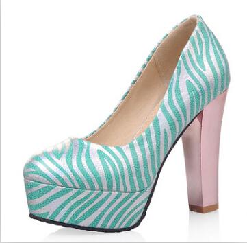 ENMAYER  women pumps fashion Heel Shoes women Vintage Pointed toe Casual Dress Platform Pumps Wedding shoes pumps hot