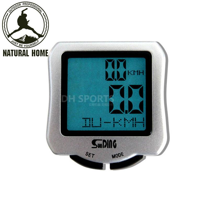 [NaturalHome] Brand Professional Bike Bicycle Cycling Backlight Waterproof Computer Odometer Speedometer Velometer Computer(China (Mainland))