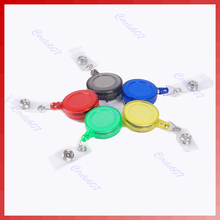 J34 Free Shipping 10pcs/lot Retractable ID Card Badge Holder Reels with Clip  (China (Mainland))
