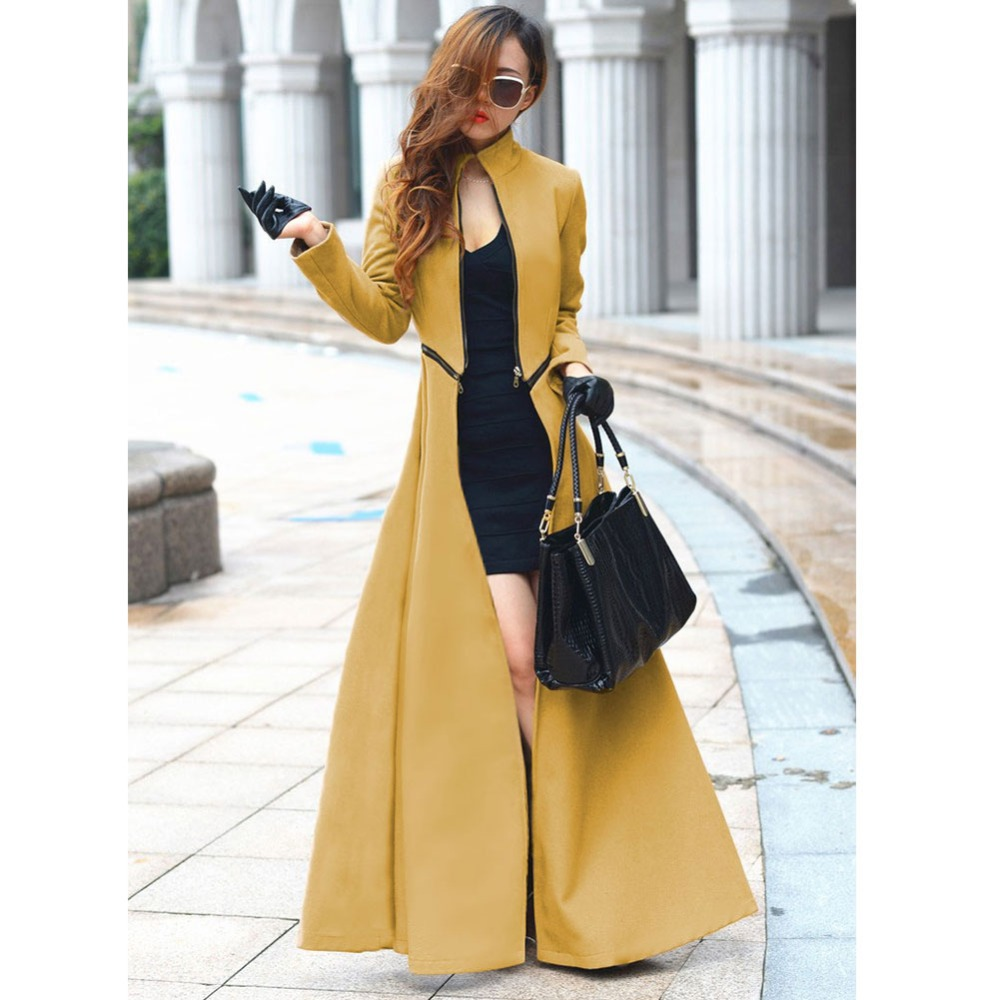 Popular Blue Trench Coat Dress-Buy Cheap Blue Trench Coat Dress