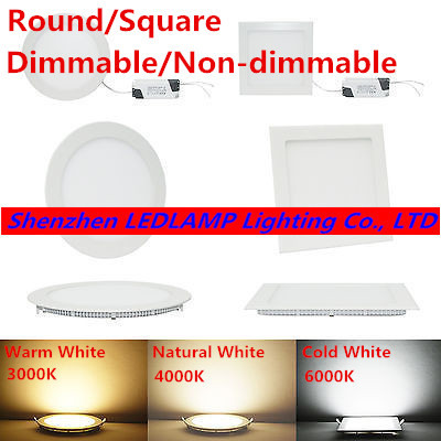 Ultra thin design 25W LED ceiling recessed grid downlight / round or square panel light 225mm, 1pc/lot free shipping(China (Mainland))