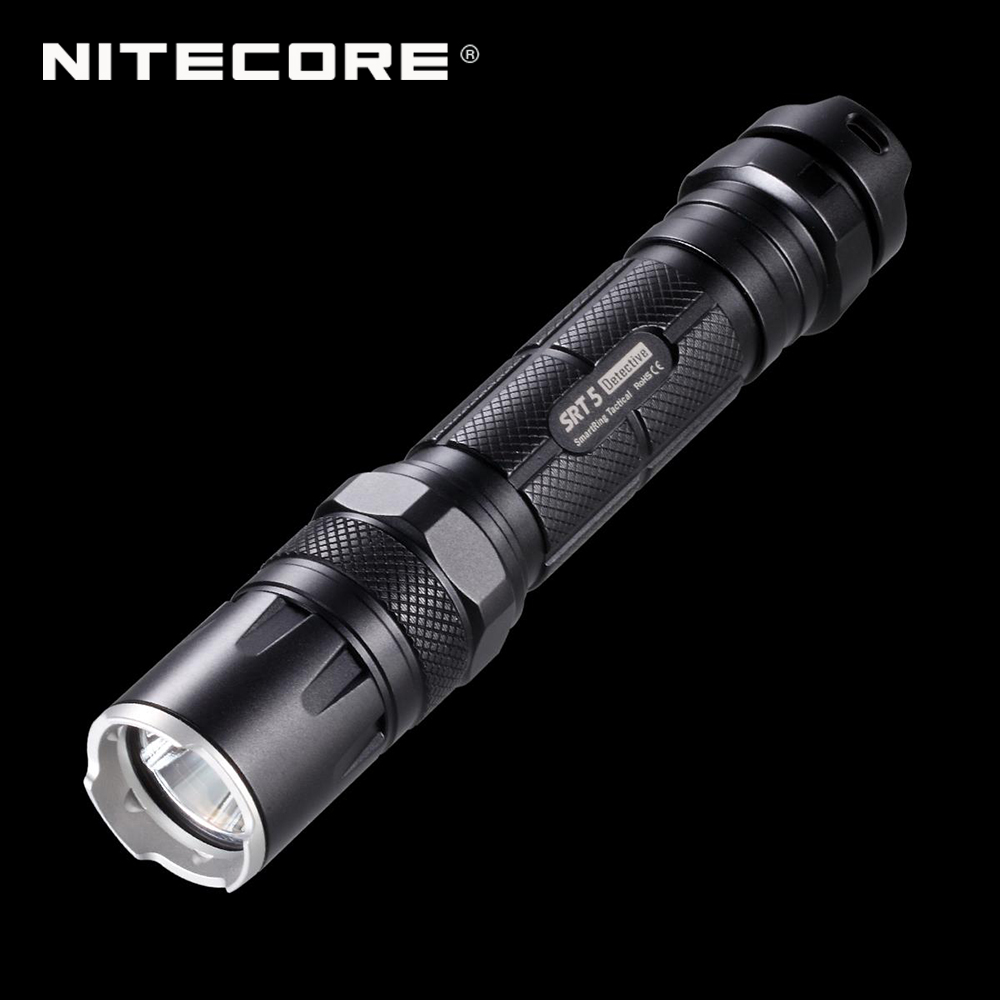 Original NITECORE SRT5 Flashlight 18650 Smart Ring Tactical 750 Lumens CREE XM-L2 T6 LED Torch with 5-year Warranty(China (Mainland))