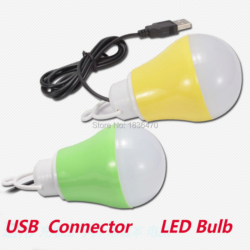 wholesale(5pieces/lot)LED bulb lamp mobile power supply USB interface dedicated light bulb computer lamp outdoor emergency light(China (Mainland))