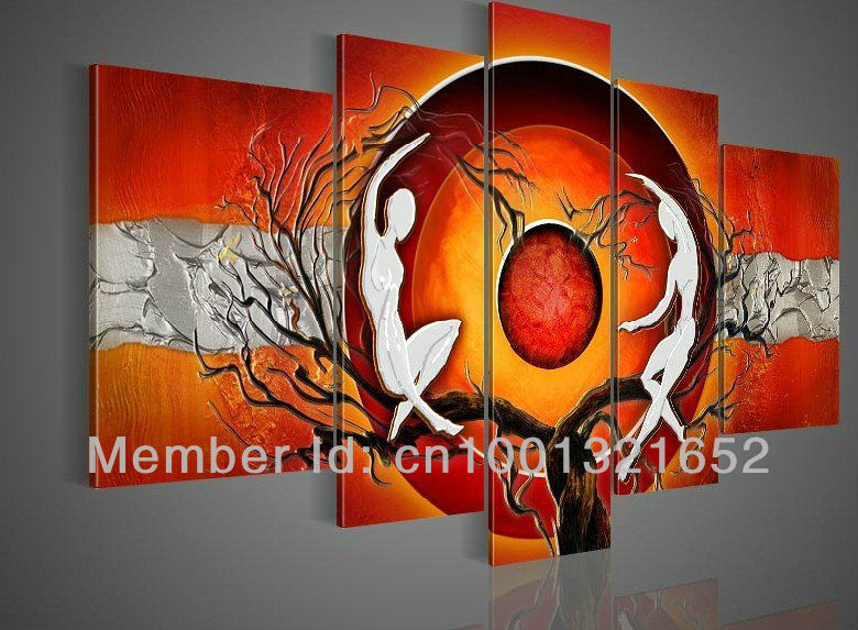 w wholesale paintings on canvas orange