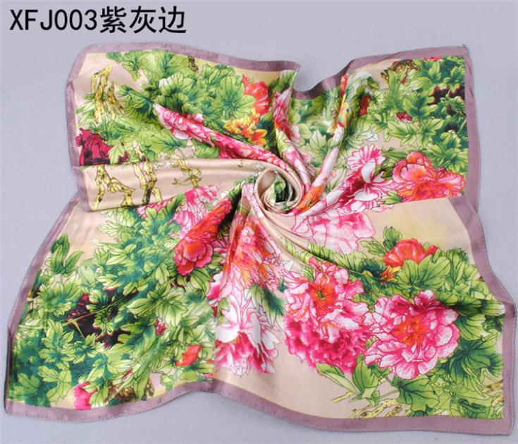 Chinese Silk Square Scarf Fashion 60x60cm little Women High Quality Satin Scarves Free Shipping X303401(China (Mainland))