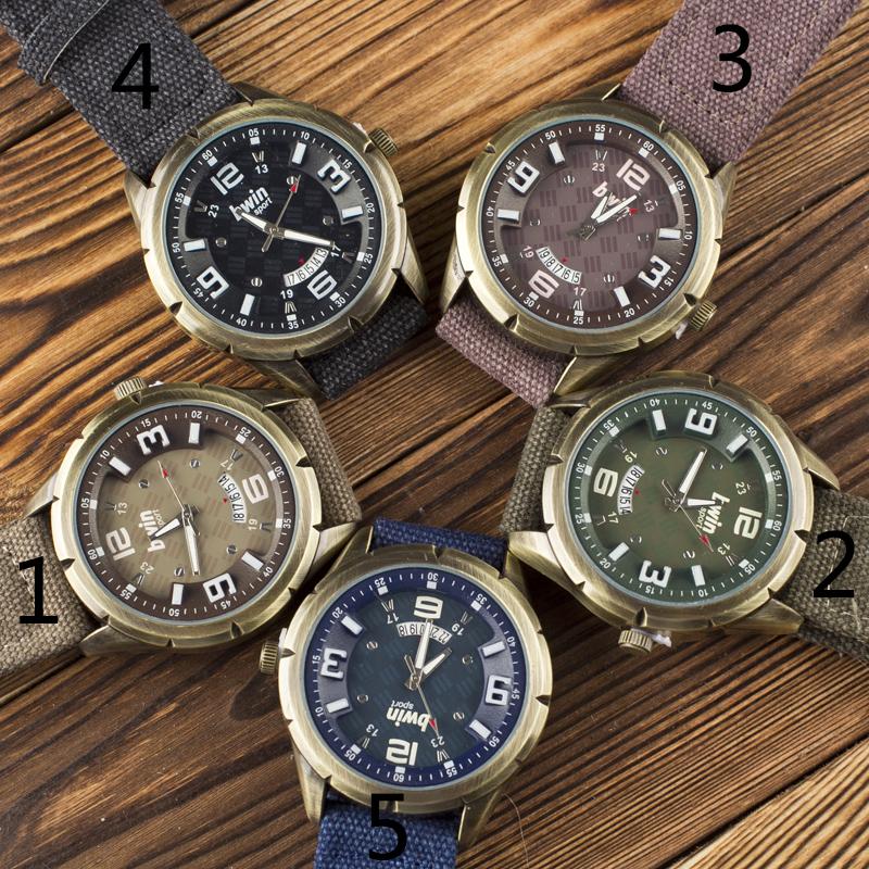Top Bwin Brand Bronze Denim Single Calendar Football Sport Watches Men Quartz Wristwatches Military Watch Reloj Hombre B055<br><br>Aliexpress