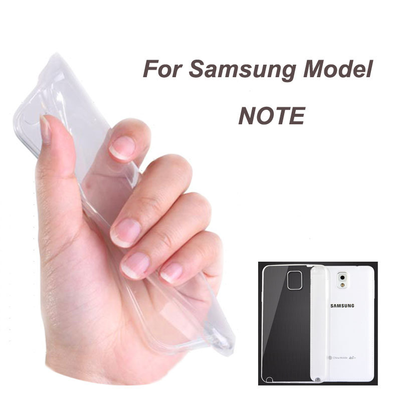 0.3mm Ultra Clear Case for Samsung NOTE 2 3 4 Silicon TPU Back Cover for NOTE DDGE/N9150 Durable Protective Cover Shell(China (Mainland))