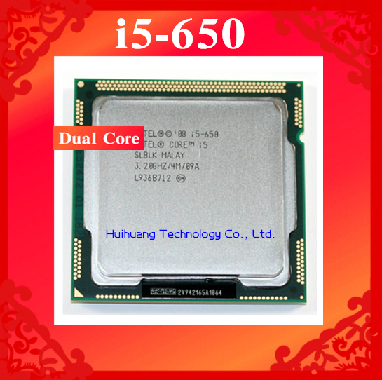 Lifetime warranty Core i5 650 3.2GHz 4M SLBLK Dual Core Four threads desktop processors Computer CPU Socket LGA 1156 pin(China (Mainland))