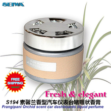 Car Accessories  Jasmine fragrant orchids car instrument desk aromatic  deodorant fragrance perfume S194  free shipping(China (Mainland))