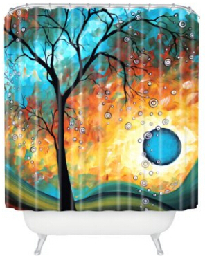 DENY Designs Madart Aqua Burn Shower Curtain, 69-Inch by 72-Inch(China (Mainland))