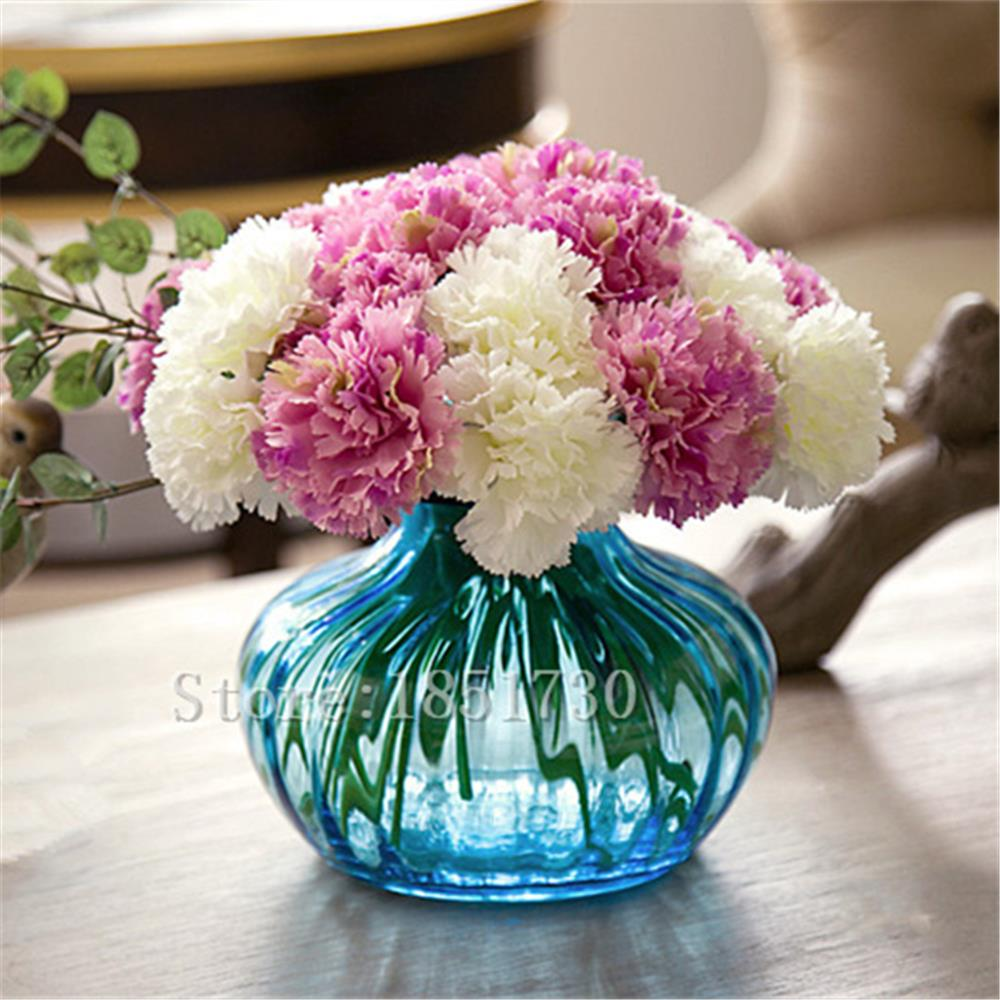 Cute colorfull 1pcs 1 head carnation Artificial flower silk flower decoration flower for wedding home and monther's day(China (Mainland))