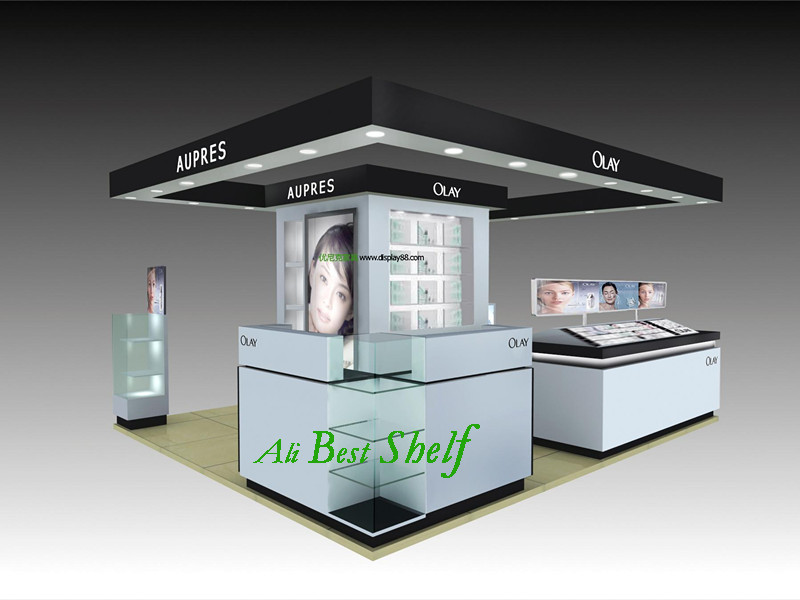 Wooden glass cosmetic display showcase cabinets OEM service, free design shelf manufacture cheap factory price for sale(China (Mainland))