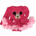Infant Baby girl clothes Cotton Cartoon Long sleeve Jumpsuit Romper Tutu dresses Newborn Bebes Baby girl