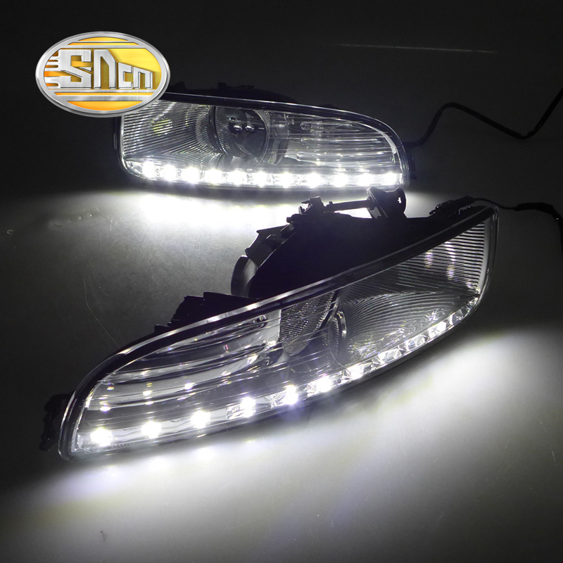 For Skoda Superb 2010 - 2013,Super Brightness Waterproof ABS Car DRL 12V LED Daytime Running Light With Fog Lamp Cover SNCN(China (Mainland))