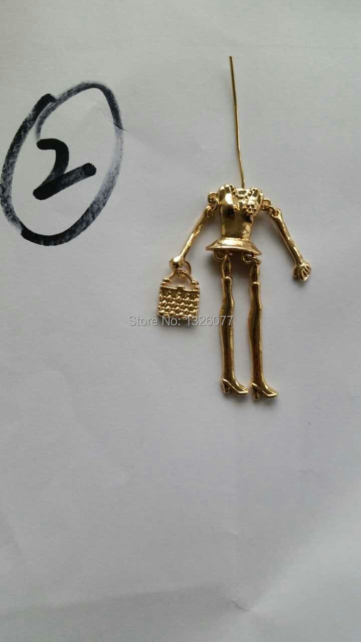 Doll parts on arrival!! Fashion doll necklace accessories parts doll pendant body with arms and feet Dress up by yourself(China (Mainland))