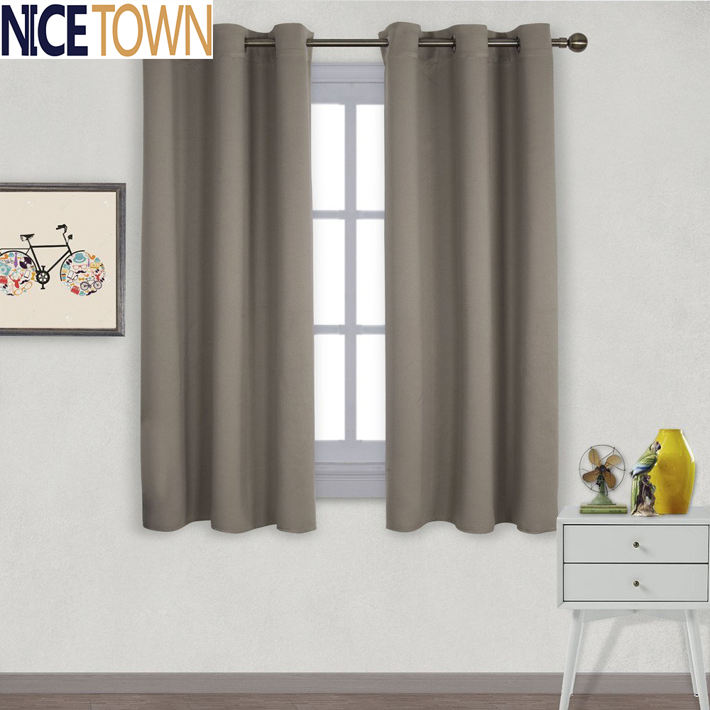1 Piece Solid Color Thermal Insulated Blackout Curtain With Grommet Top For Living Room Drapes For Bedroom Modern Window Curtain(China (Mainland))