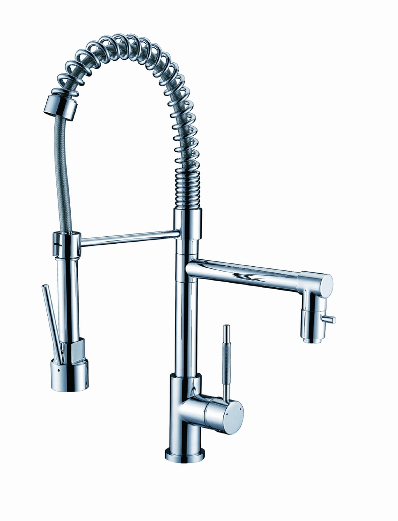 Pre rinse pull down spring kitchen faucet with pot filler Pot filler faucet