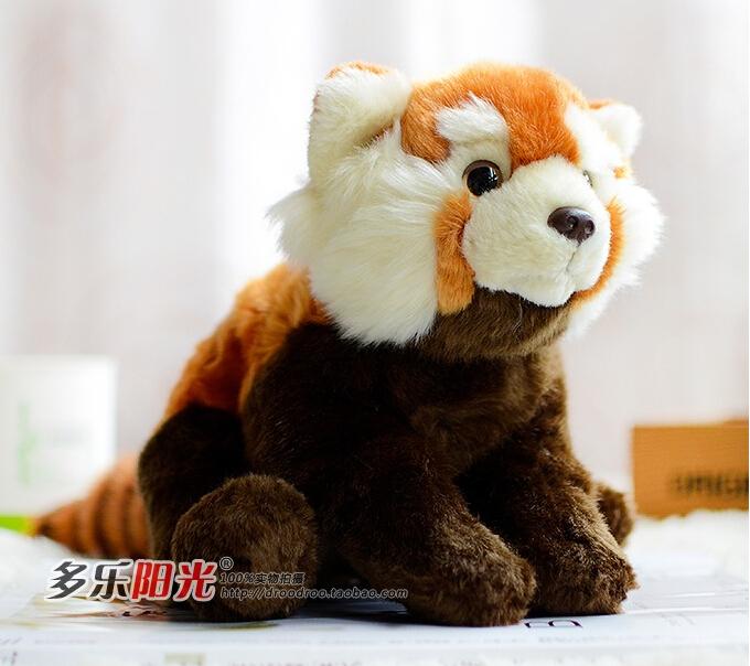 Super Kawaii Red Panda Plush Toy Doll Simulation Wildlife Stuffed Animals(China (Mainland))