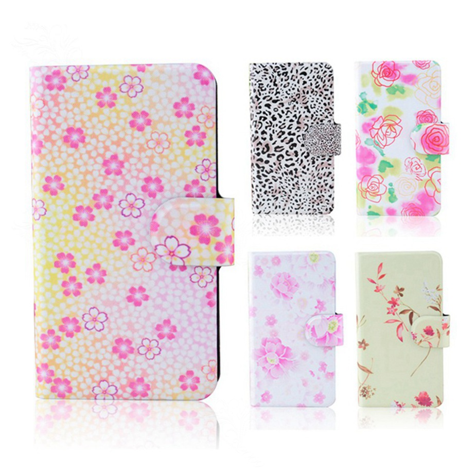 100% New 2015 Hot retro Love flower popular PU leather flip Cool beautiful cover case for Samsung Galaxy Chat B5330(China (Mainland))