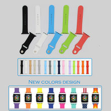 URVOI band for apple watch sport strap adapter fluoroelastomer wrist silicone Colorful durable replacement for i watch 38mm/42mm