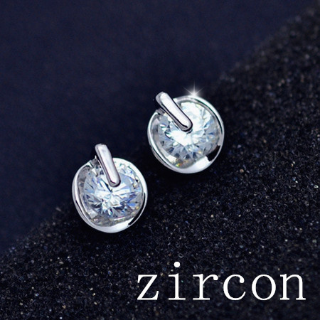 Recommendation Wholesale New Fashion real 18K gold filled with CZ zircon round stud Valentines Day gift for women girl E2526<br><br>Aliexpress