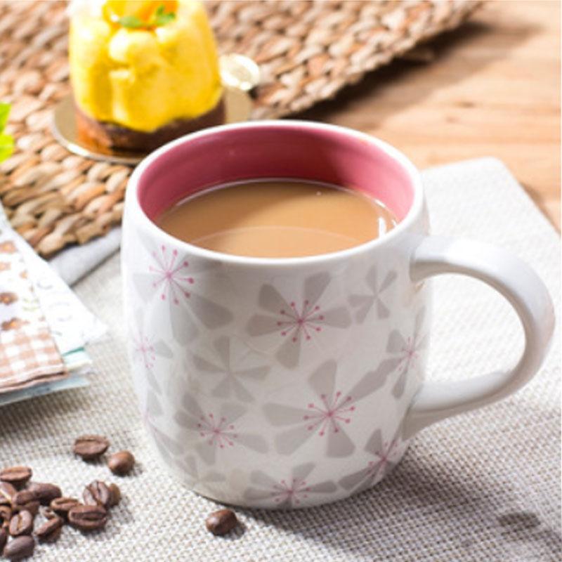 Classic Cherry Blossom Sakura Ceramic Mugs 355 ML 12oz Zakka Pink Ceramic Coffee Cup Cute Travel Cup Elegant Coffee Mugs(China (Mainland))